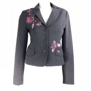 BCBG Max Azria Embroidered Tailored Blazer Jacket